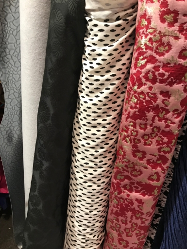 I spy, with my little eyes, fabrics for jackets.